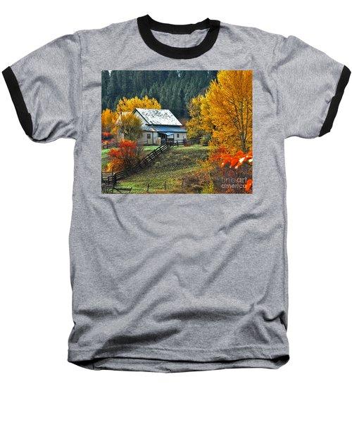 Baseball T-Shirt featuring the photograph Yourn Barn by Sam Rosen