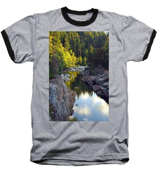 Yuba River Twilight Baseball T-Shirt by Donna Blackhall