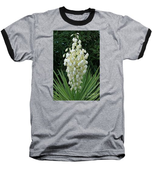 Yucca Blossoms Baseball T-Shirt by Christiane Schulze Art And Photography