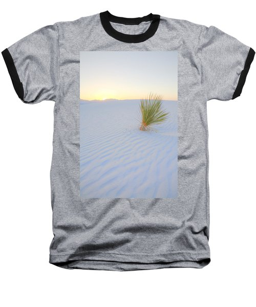 Baseball T-Shirt featuring the photograph Yucca Plant At White Sands by Alan Vance Ley
