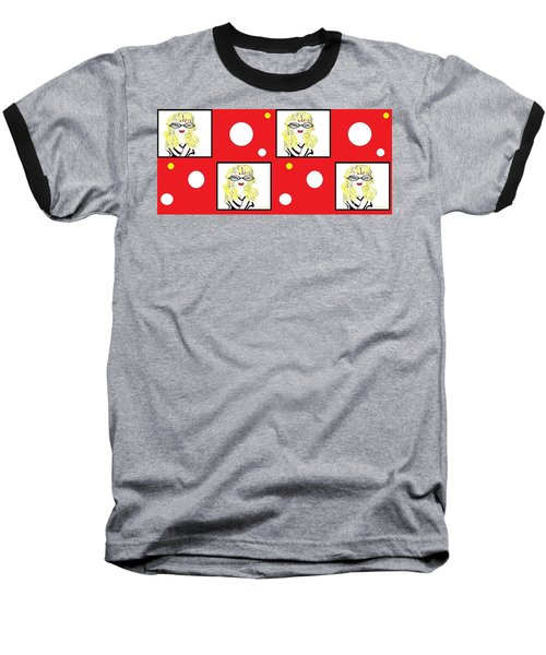 Yuk Baseball T-Shirt by Ann Calvo