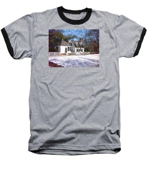 Yule Cottage Baseball T-Shirt by Shari Nees