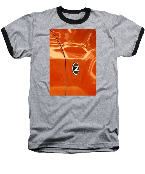 Z Emblem P Baseball T-Shirt by Jerry Sodorff