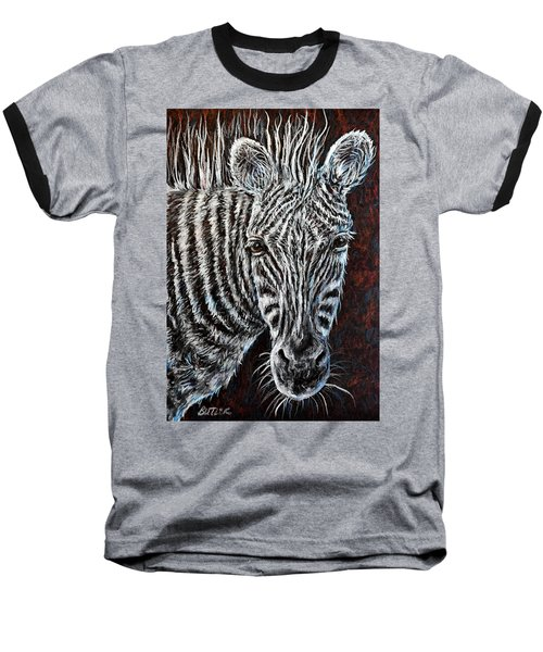 Zebra Baseball T-Shirt by Gail Butler