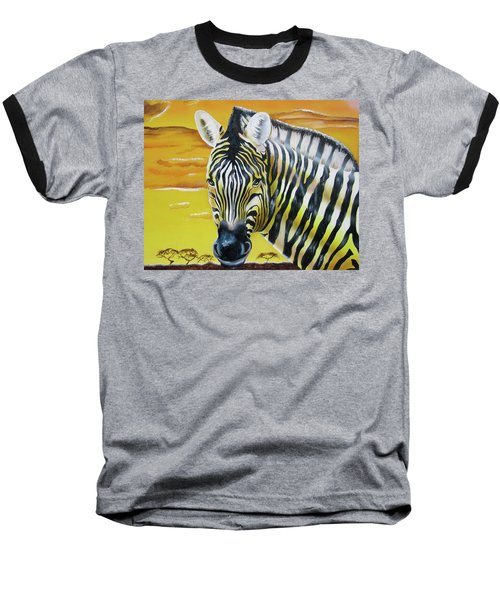 Baseball T-Shirt featuring the painting As Day As Night by Thomas J Herring