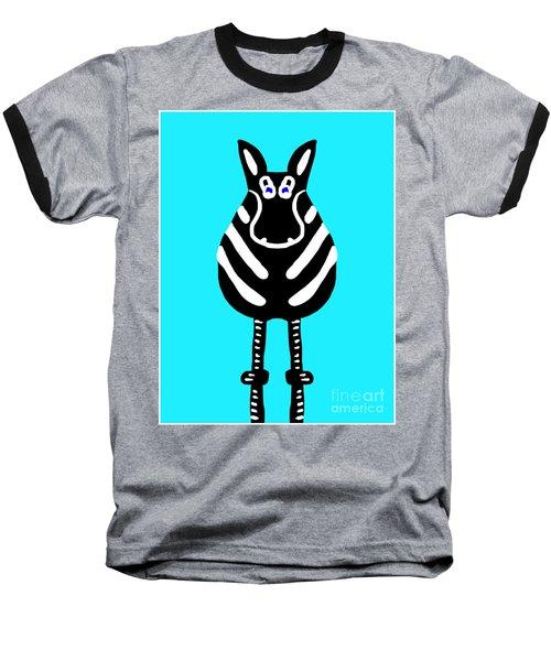 Zebra - The Front View Baseball T-Shirt