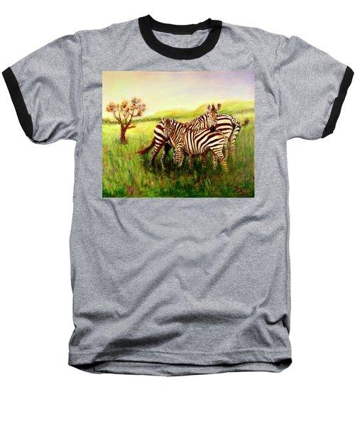 Zebras At Ngorongoro Crater Baseball T-Shirt