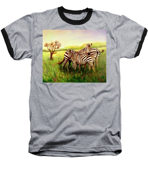 Zebras At Ngorongoro Crater Baseball T-Shirt