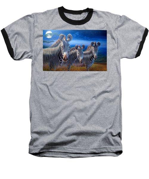 Zebras Baseball T-Shirt by Hans Droog