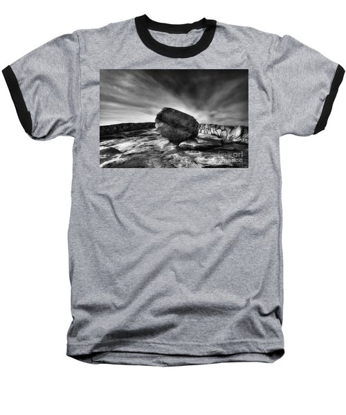 Zen Black White Baseball T-Shirt
