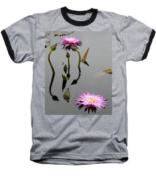 Zen Lilies Baseball T-Shirt
