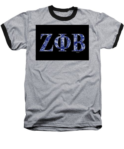 Zeta Phi Beta - Black Baseball T-Shirt