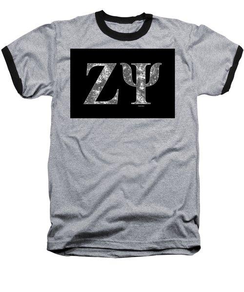 Baseball T-Shirt featuring the digital art Zeta Psi - Black by Stephen Younts