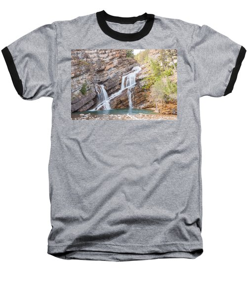 Baseball T-Shirt featuring the photograph Zigzag Waterfall by John M Bailey