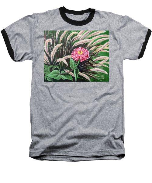 Zinnia Among The Grasses Baseball T-Shirt
