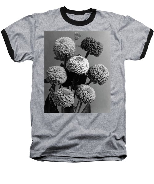 Zinnia Lilliput Flowers Baseball T-Shirt