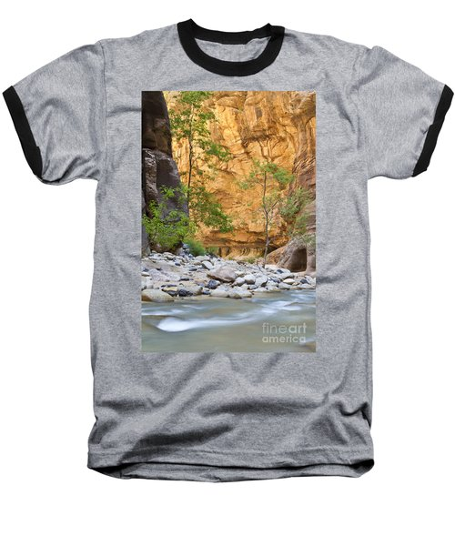 Baseball T-Shirt featuring the photograph Zion Narrows by Bryan Keil