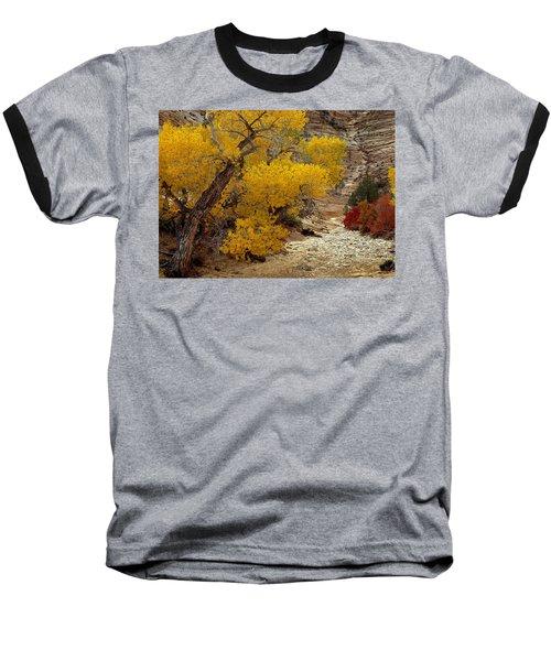 Zion National Park Autumn Baseball T-Shirt