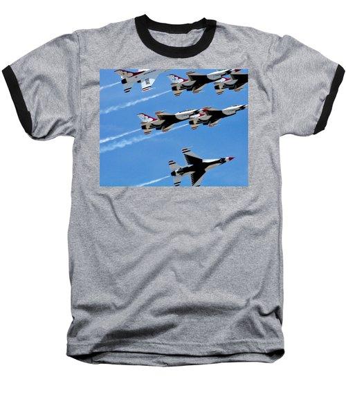 Zoom Baseball T-Shirt by Judy Wanamaker