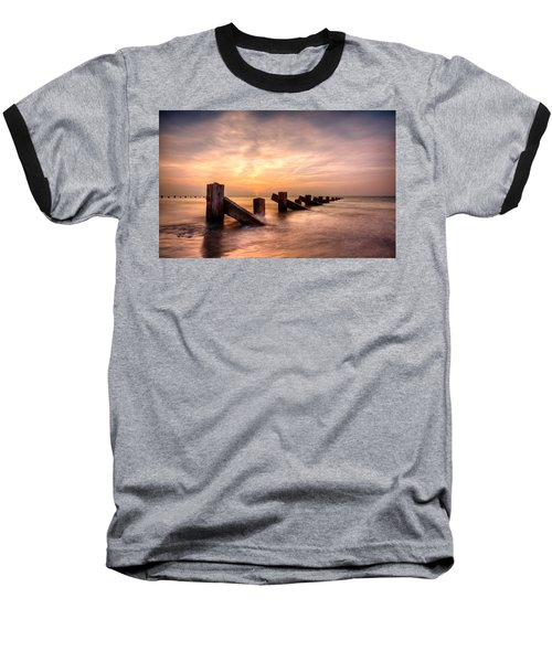 Baseball T-Shirt featuring the photograph  Abermaw Sunset by Beverly Cash