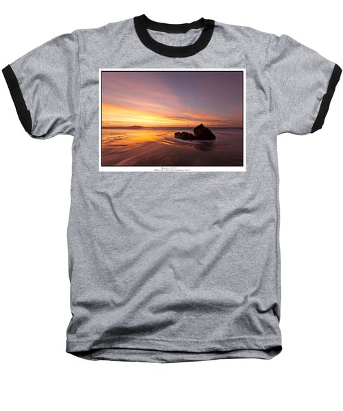 Baseball T-Shirt featuring the photograph  Atomic Sunset by Beverly Cash