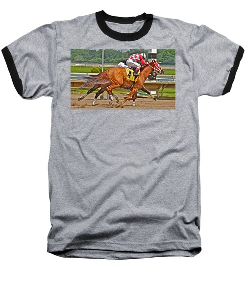 Baseball T-Shirt featuring the photograph  Betting On Number Four by Alice Gipson