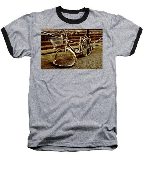 Bicycle Breakdown Baseball T-Shirt