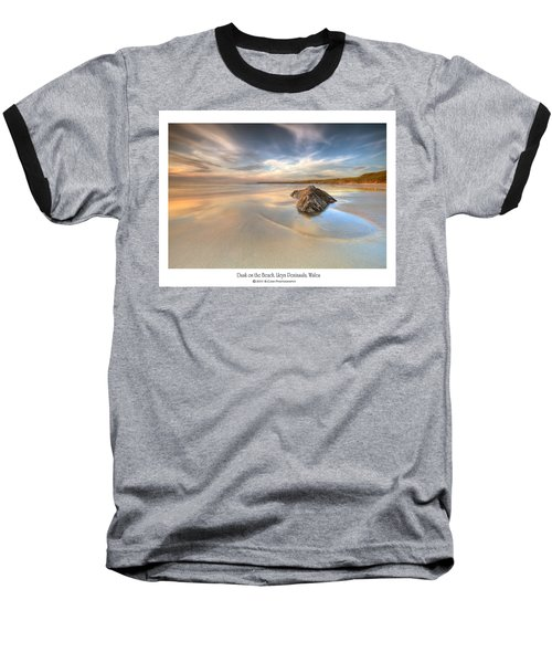 Dusk On The Beach Baseball T-Shirt by Beverly Cash