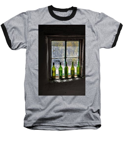 Green Bottles In Window Baseball T-Shirt
