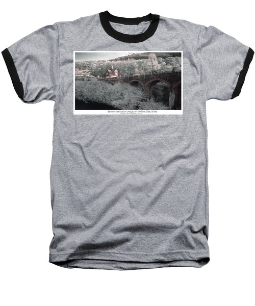 Baseball T-Shirt featuring the photograph  Infrared Train Station Bridge by Beverly Cash