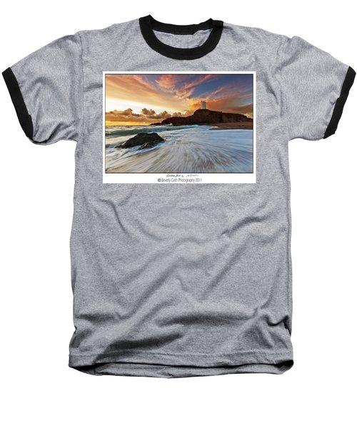 Llanddwyn Island Lighthouse Baseball T-Shirt