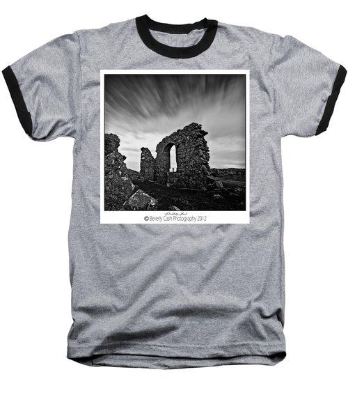 Llanddwyn Island Ruins Baseball T-Shirt by Beverly Cash