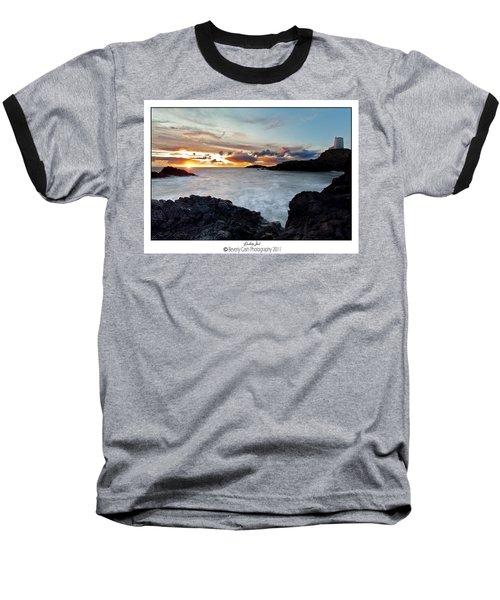 Llanddwyn Island Sunset Baseball T-Shirt
