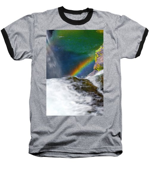 Rainbow By The Waterfall Baseball T-Shirt