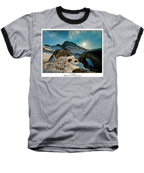 Spring Snows At Tryfan Baseball T-Shirt