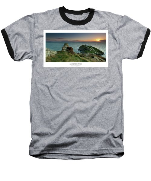 Sunset At South Stack Lighthouse Baseball T-Shirt