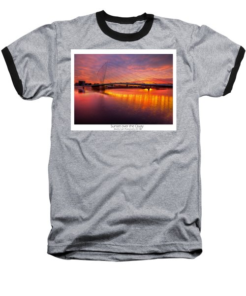 Baseball T-Shirt featuring the photograph  Sunset Over The Quay by Beverly Cash
