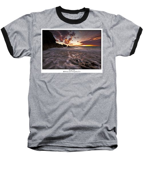 Sunset Tides - Porth Swtan Baseball T-Shirt