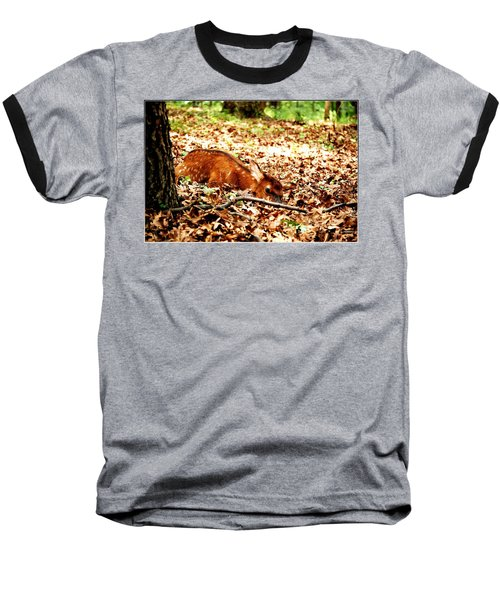 Baseball T-Shirt featuring the photograph  Sweet Baby Elk by Peggy Franz