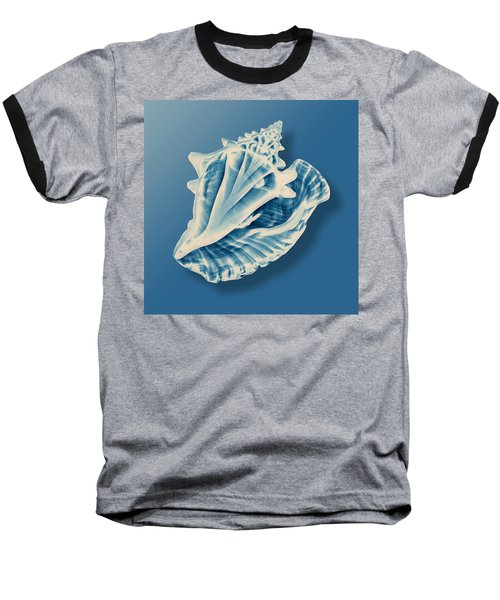 X-ray Of A Conch Shell Baseball T-Shirt by Mark Greenberg