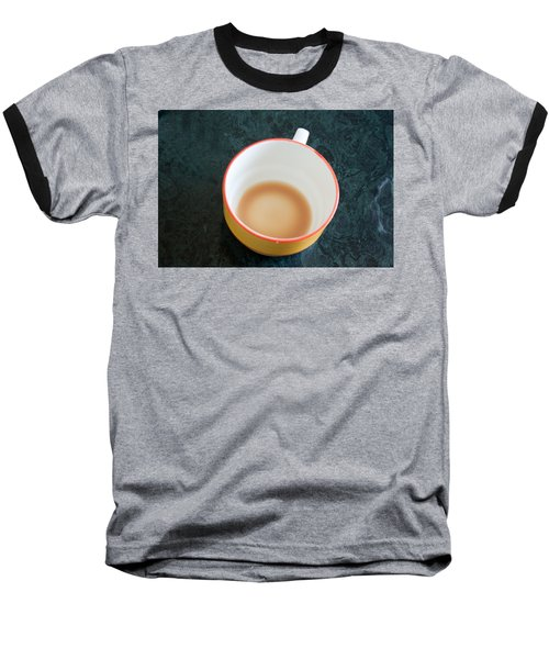 A Cup With The Remains Of Tea On A Green Table Baseball T-Shirt by Ashish Agarwal