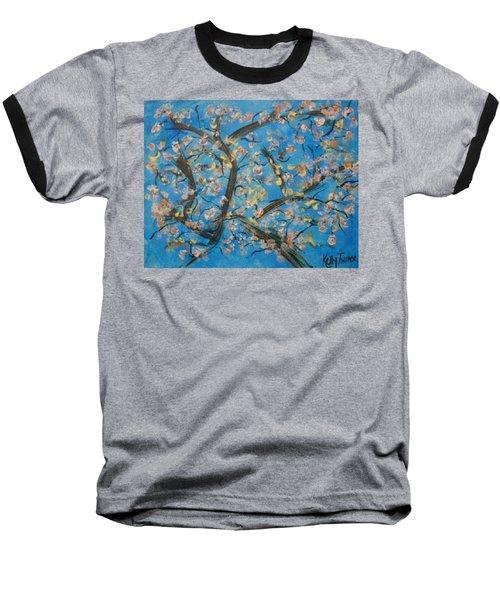 Almond Blossom  Baseball T-Shirt by Kelly Turner