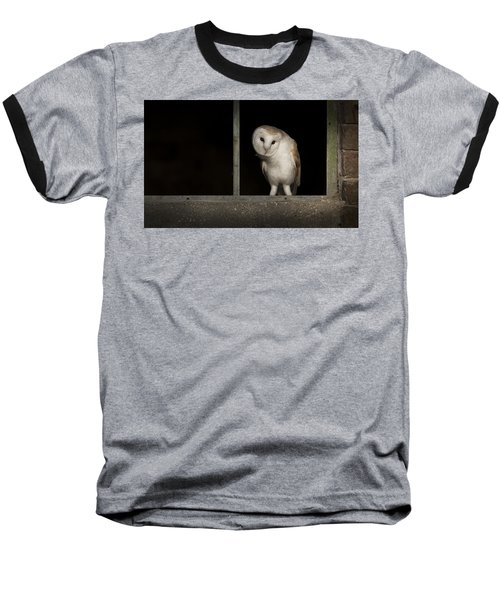 Barn Owl In Window Baseball T-Shirt