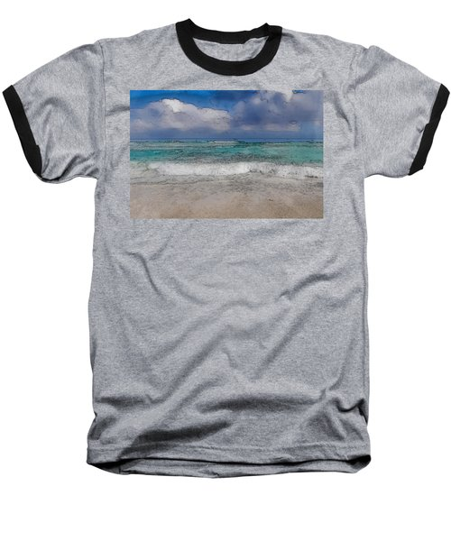 Beach Background Baseball T-Shirt