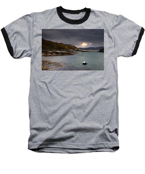 Boat In Water, Loch Sunart, Scotland Baseball T-Shirt
