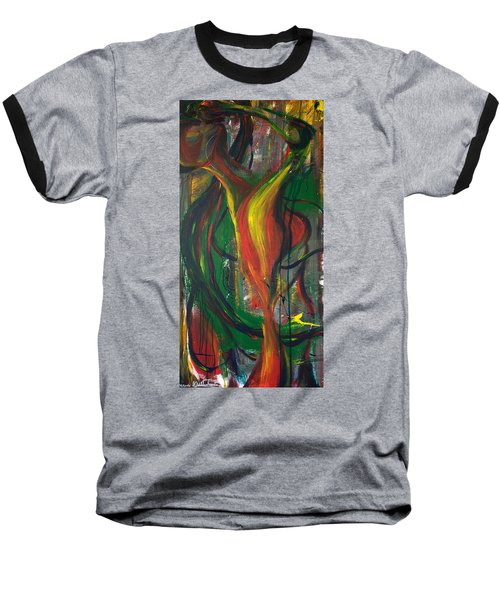 Butterfly Caught Baseball T-Shirt by Sheridan Furrer