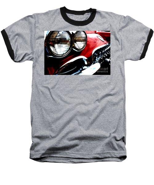 Baseball T-Shirt featuring the digital art Classic Vette by Tony Cooper