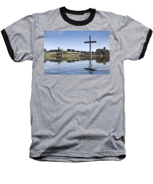 Cross In Water, Bewick, England Baseball T-Shirt
