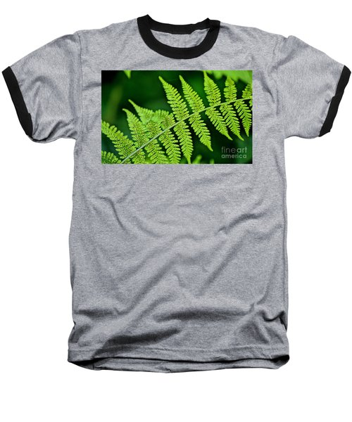 Baseball T-Shirt featuring the photograph Fern Seed by Sharon Elliott