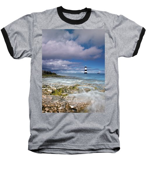 Fishing By The Lighthouse Baseball T-Shirt by Beverly Cash